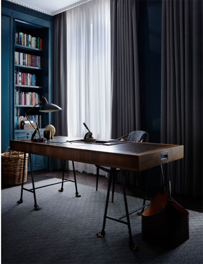 Albion Nord Chelsea Barracks features a bespoke desk made by Stride & Co and Collier Webb