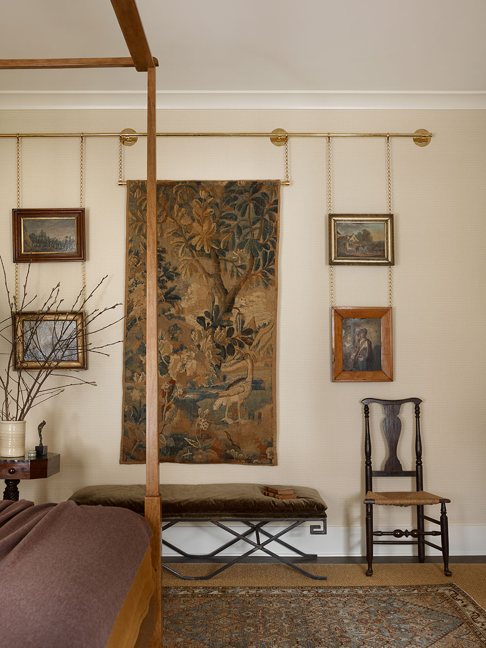 Collier Webb brass picture rails in a Meredith McBrearty interior design project