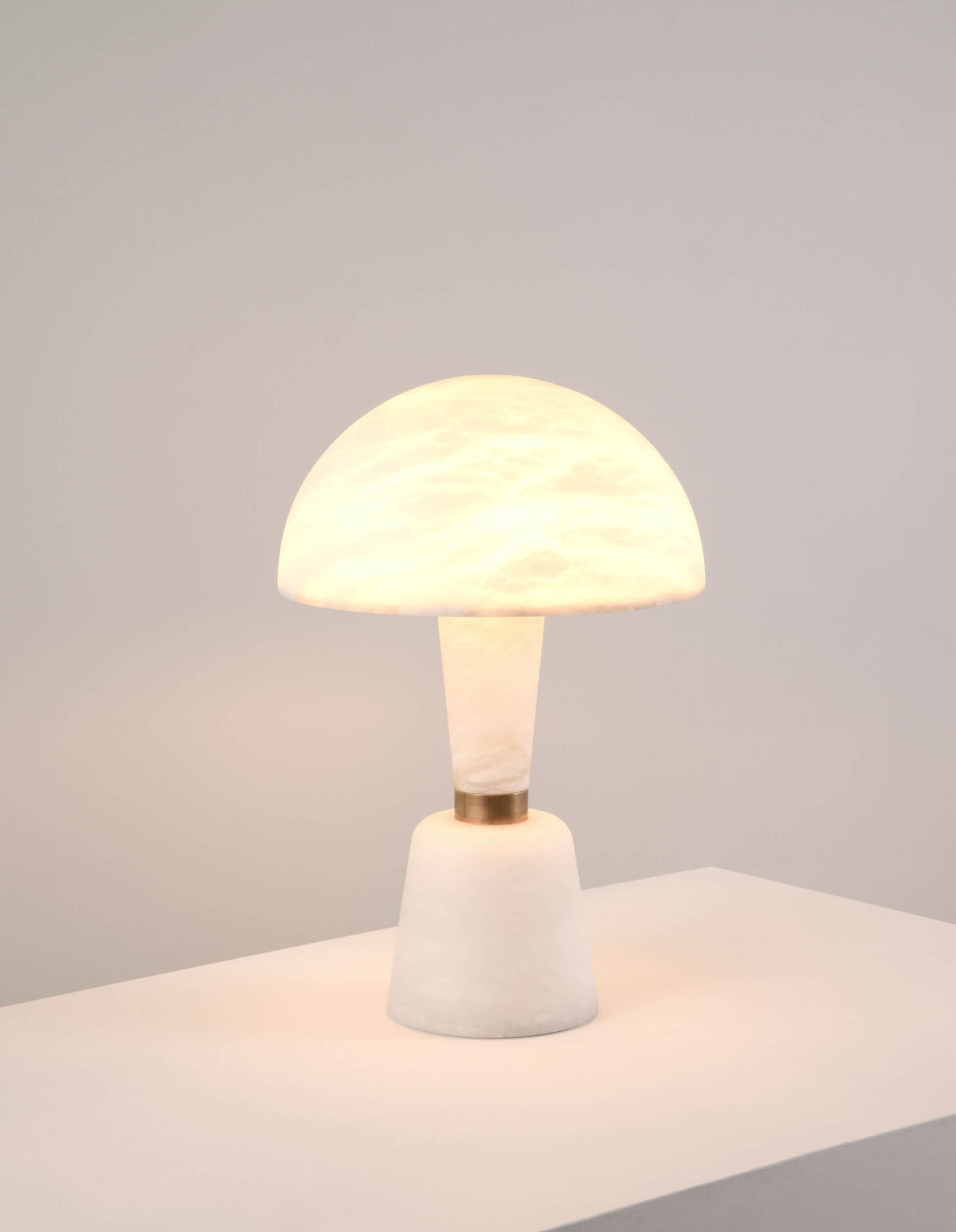 The Alabaster Cep by Collier Webb - an alabaster table lamp