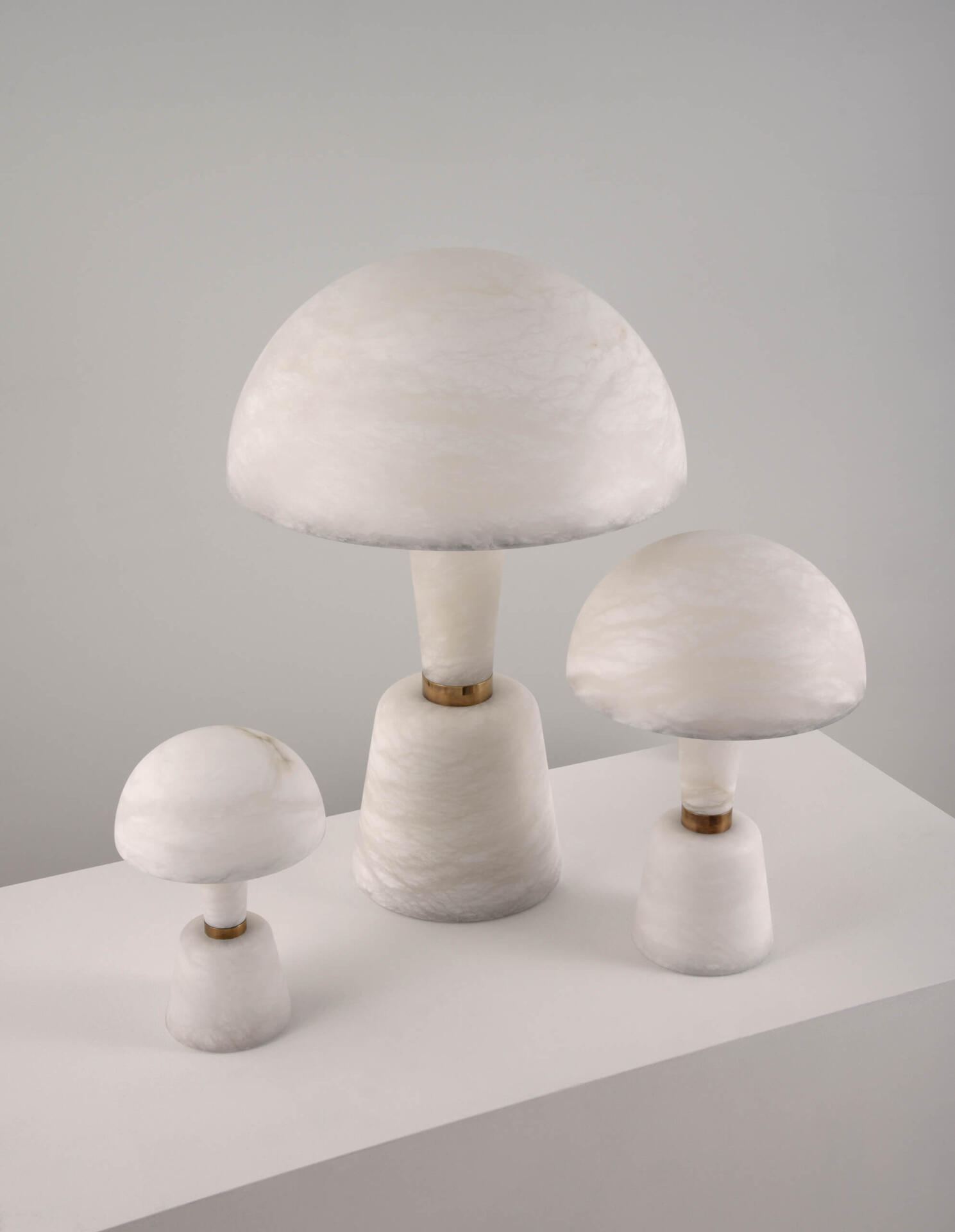 Large Alabaster Cep by Collier Webb - a beautifully crafted alabaster table light