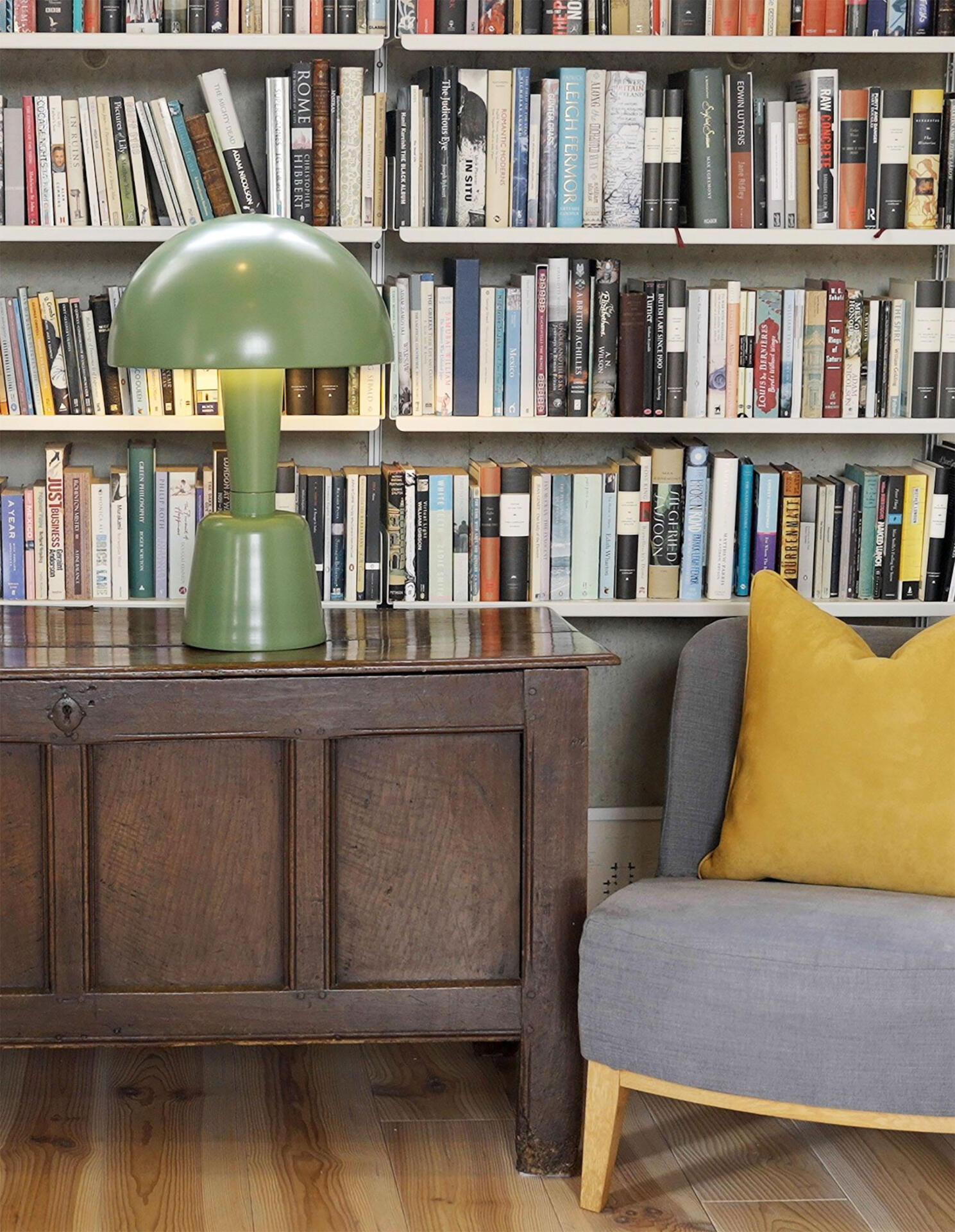 large Powder Coated Cep table lamp by Collier Webb - a mid-century style lamp