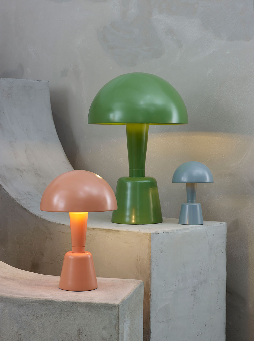 Powder Coated Cep table lamps by Collier Webb