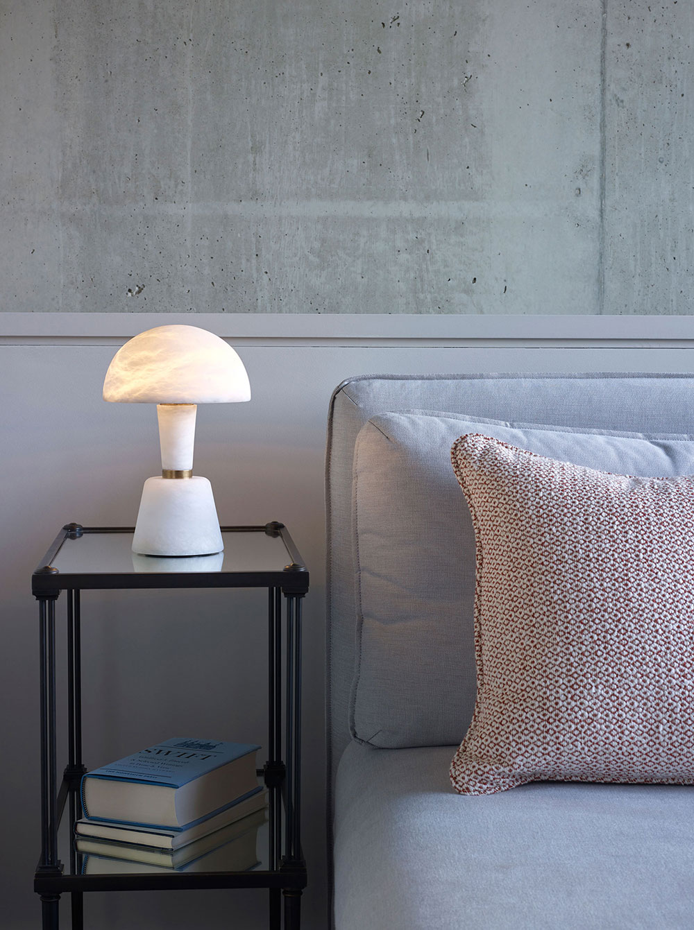 Mini Alabaster Cep by Collier Webb - a luxury cordless table lamp