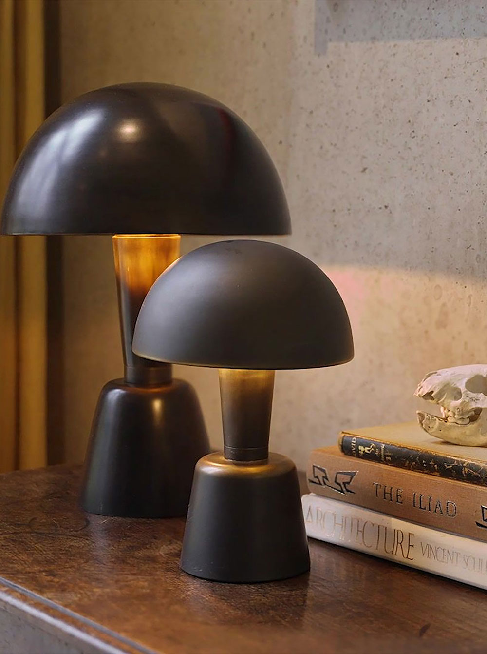 Cep lamp and Mini Cep -a cordless table light by Collier Webb