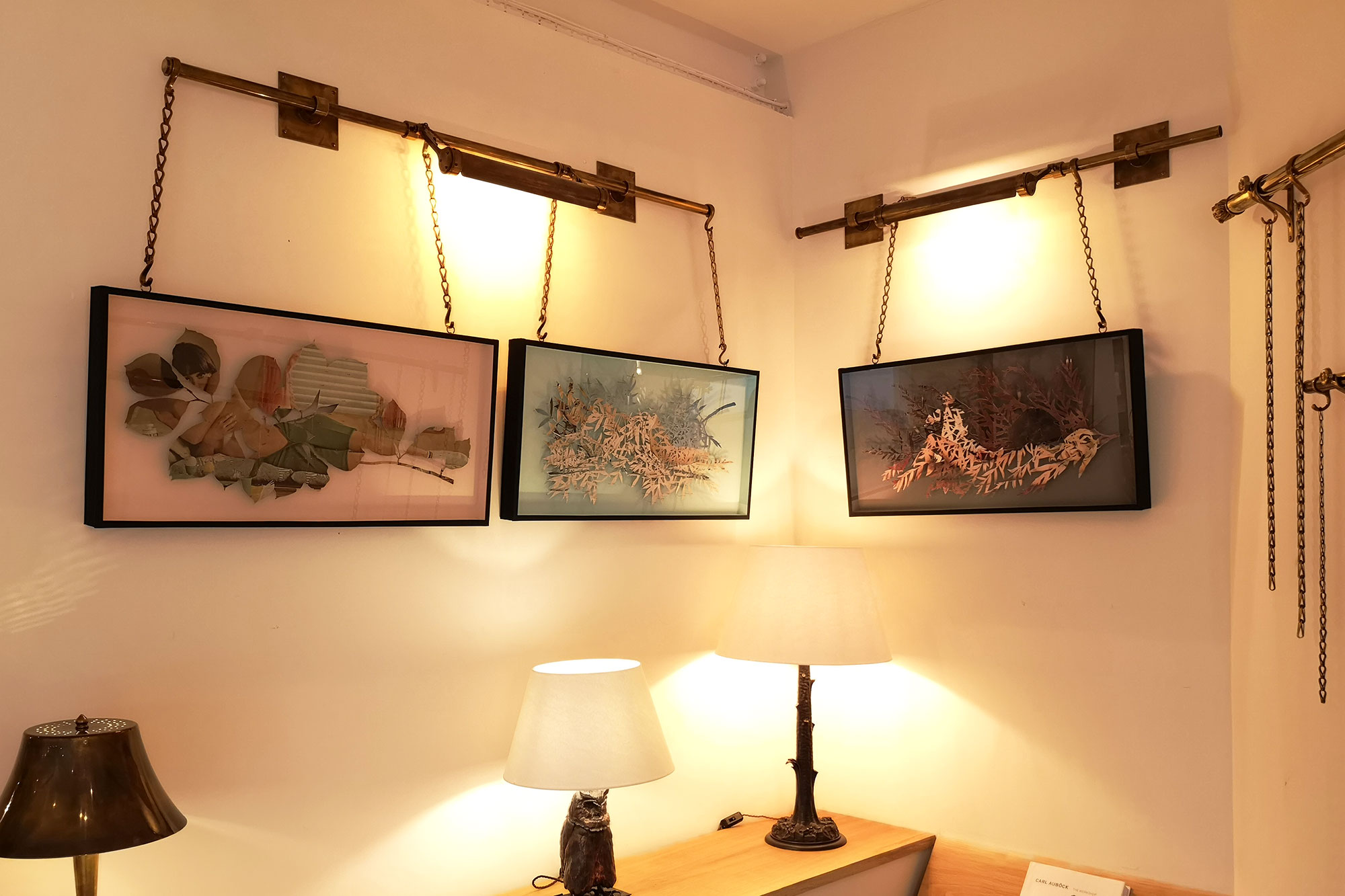"""Our Articulated picture light with """"Flora Chimera"""" pieces at the Collier Webb Design Centre, Chelsea Harbour Showroom"""