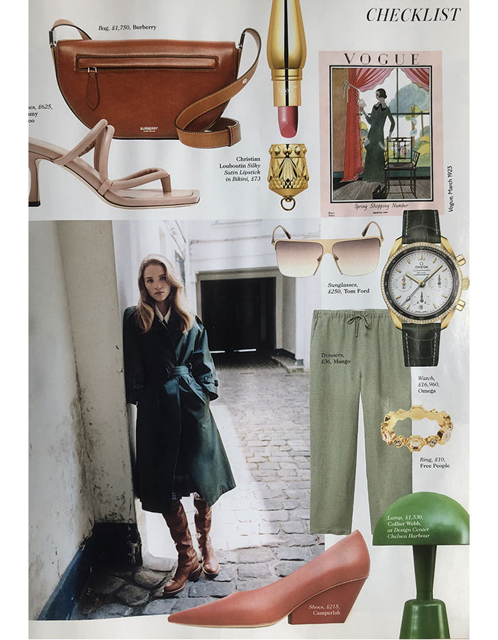British Vogue July 2021 featuring the Collier Webb Cep light