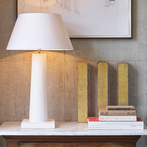 Modernist style table lighting by Collier Webb