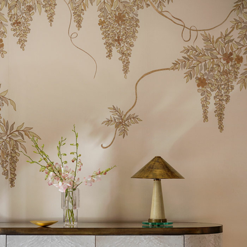 Collier Webb Icons lighting at the de Gournay showroom